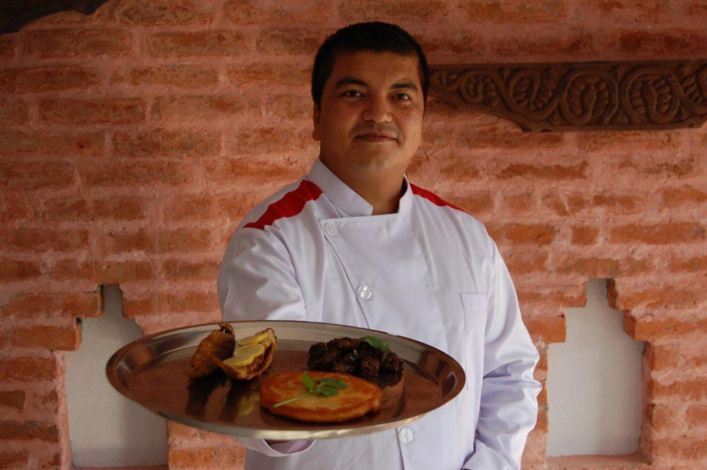 chef babu of samay baji restaurant