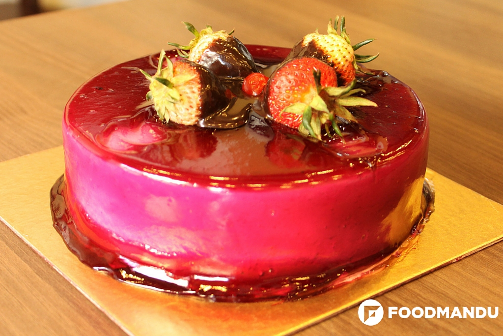 cake, strawberry cake